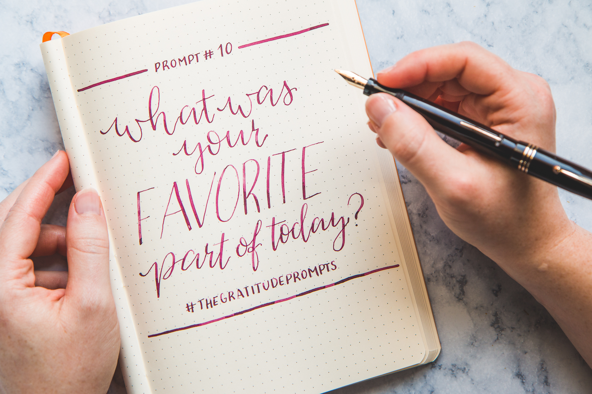 Gratitude Prompt #10 - What's Your Favorite Part of Today? - The Gratitude Log