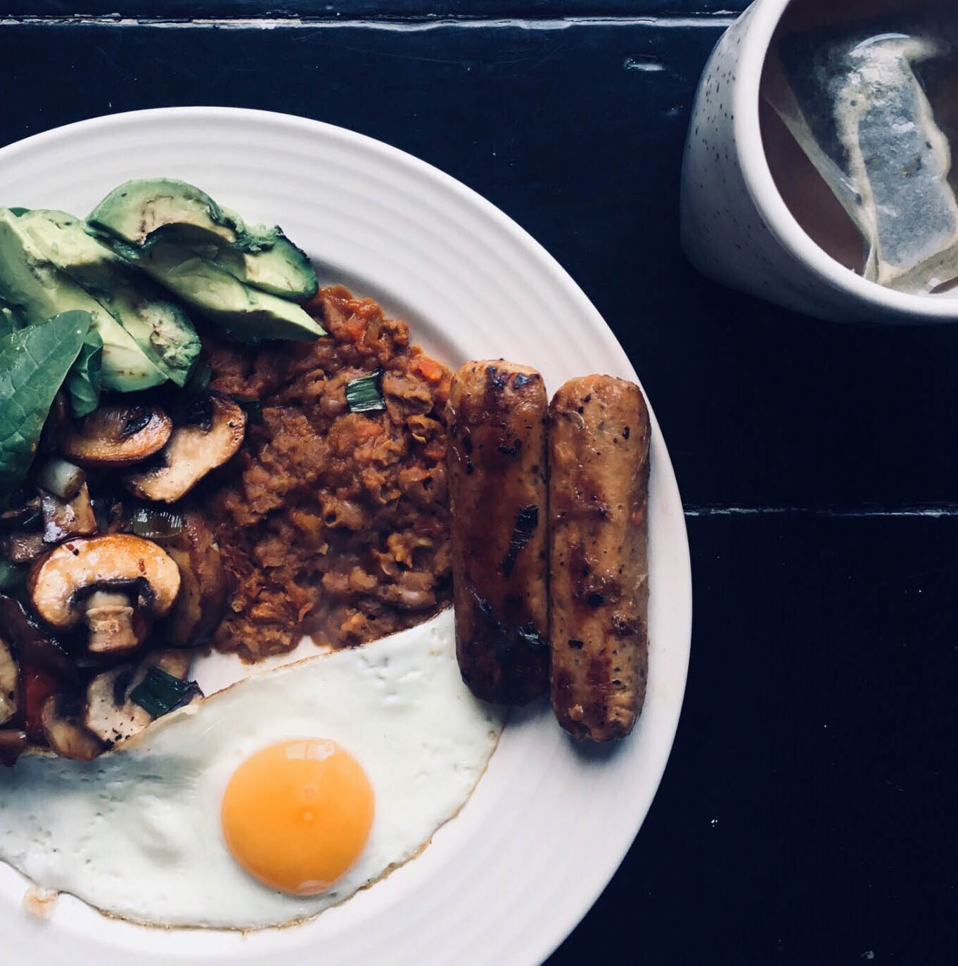 Pic of our delicious midde-eastern inspired breakfast