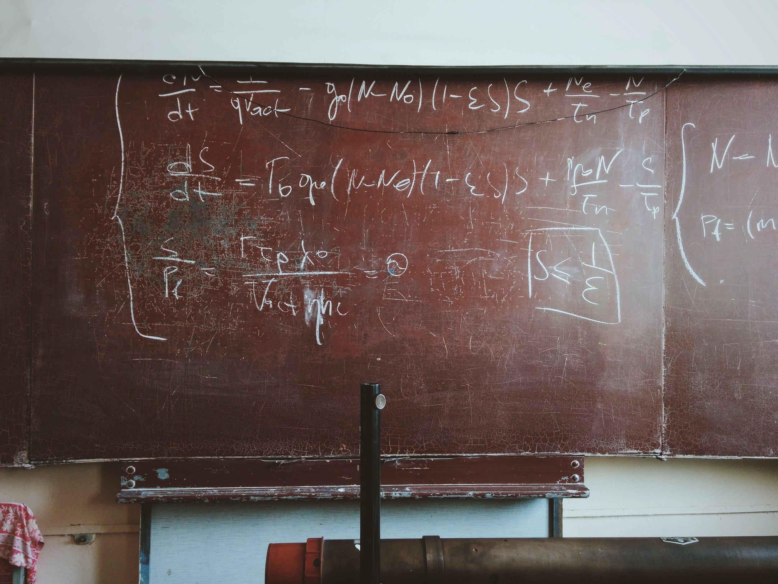 Black board equations