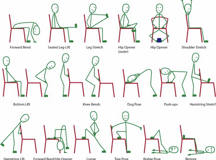How To Do Chair Yoga At Work London Based Gp Who Writes About Health Holistically