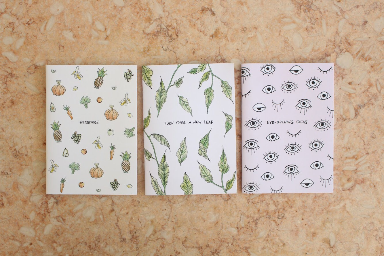 All three of the notebooks available in our giveaway
