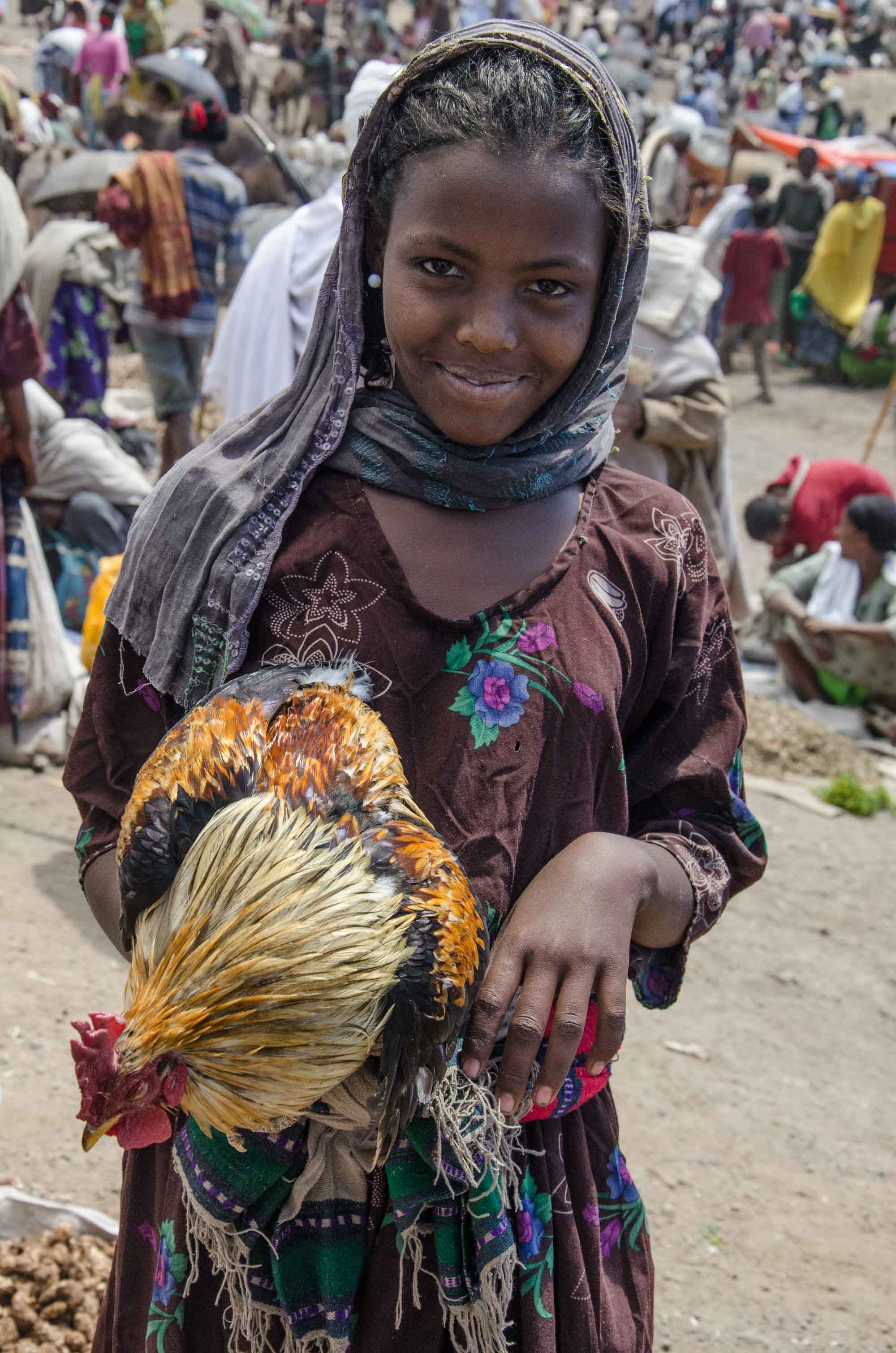 Girl with Rooster