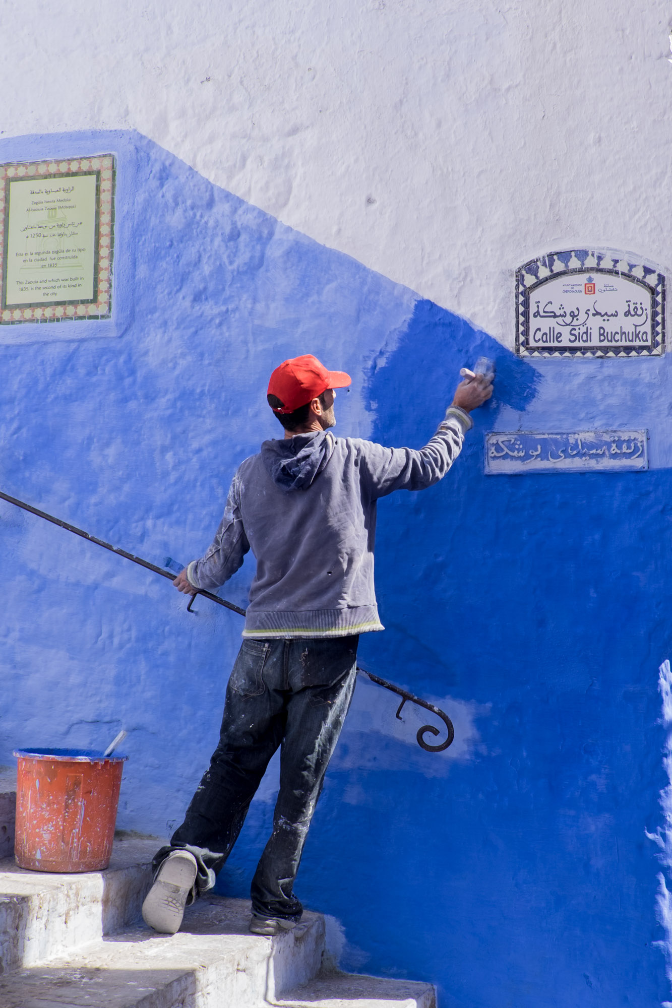 Painting the town blue