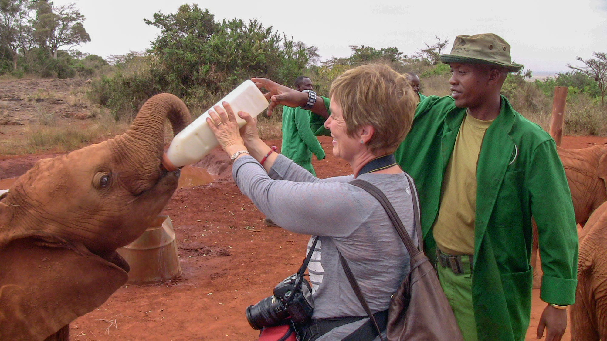 Kathy bottle feeding