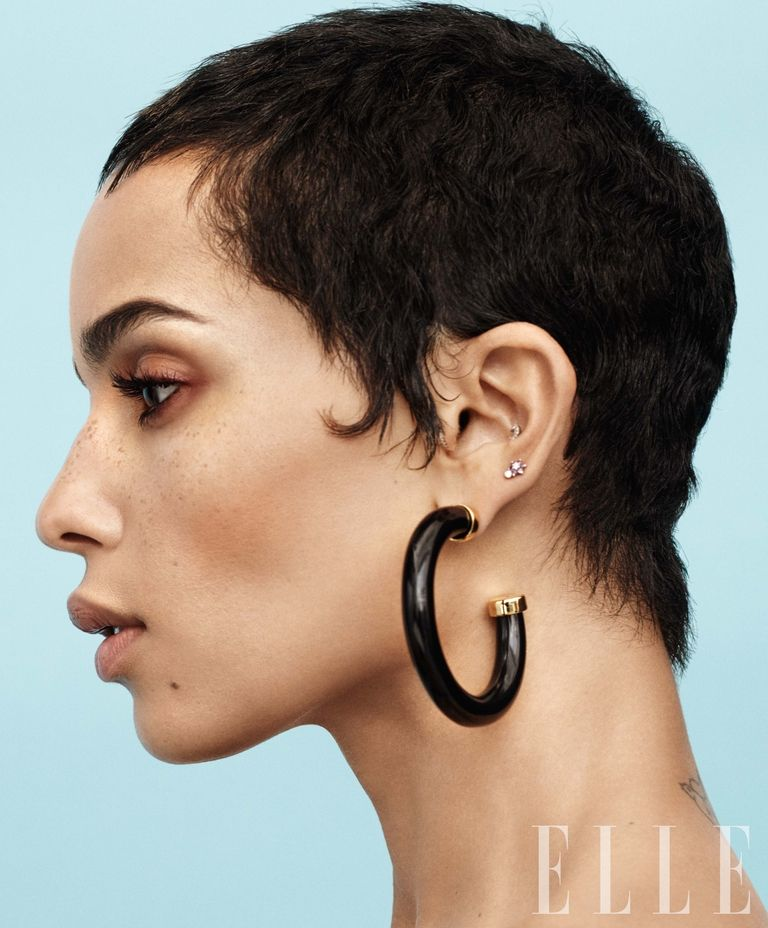 Zoё Kravitz - Earrings by Kenneth Jay Lane kennethjaylane.com