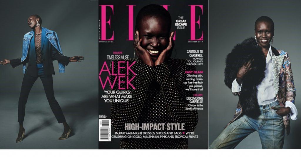 Alek Wek - Elle South Africa