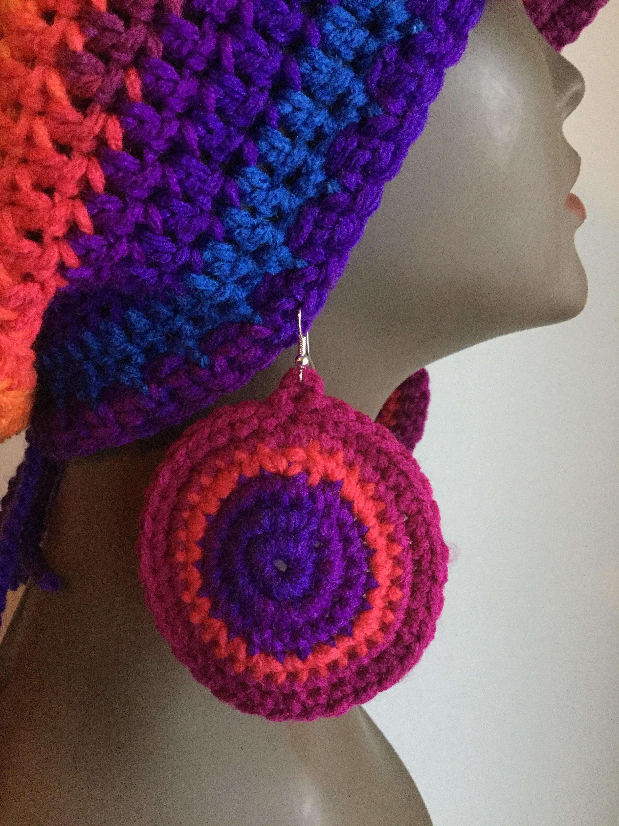 Slouchy Beanie - And Earrings