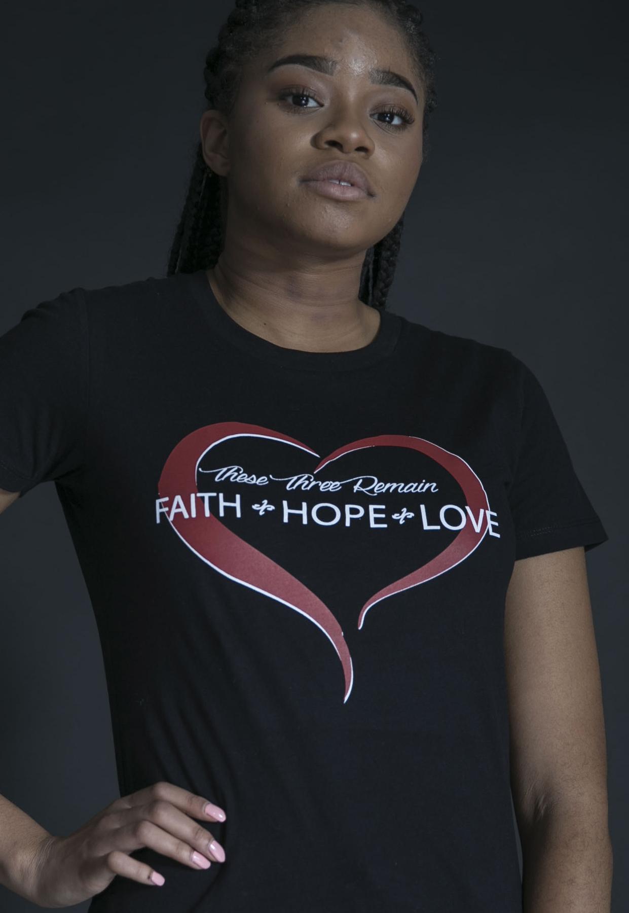 Faith Hope Love Tee - $24