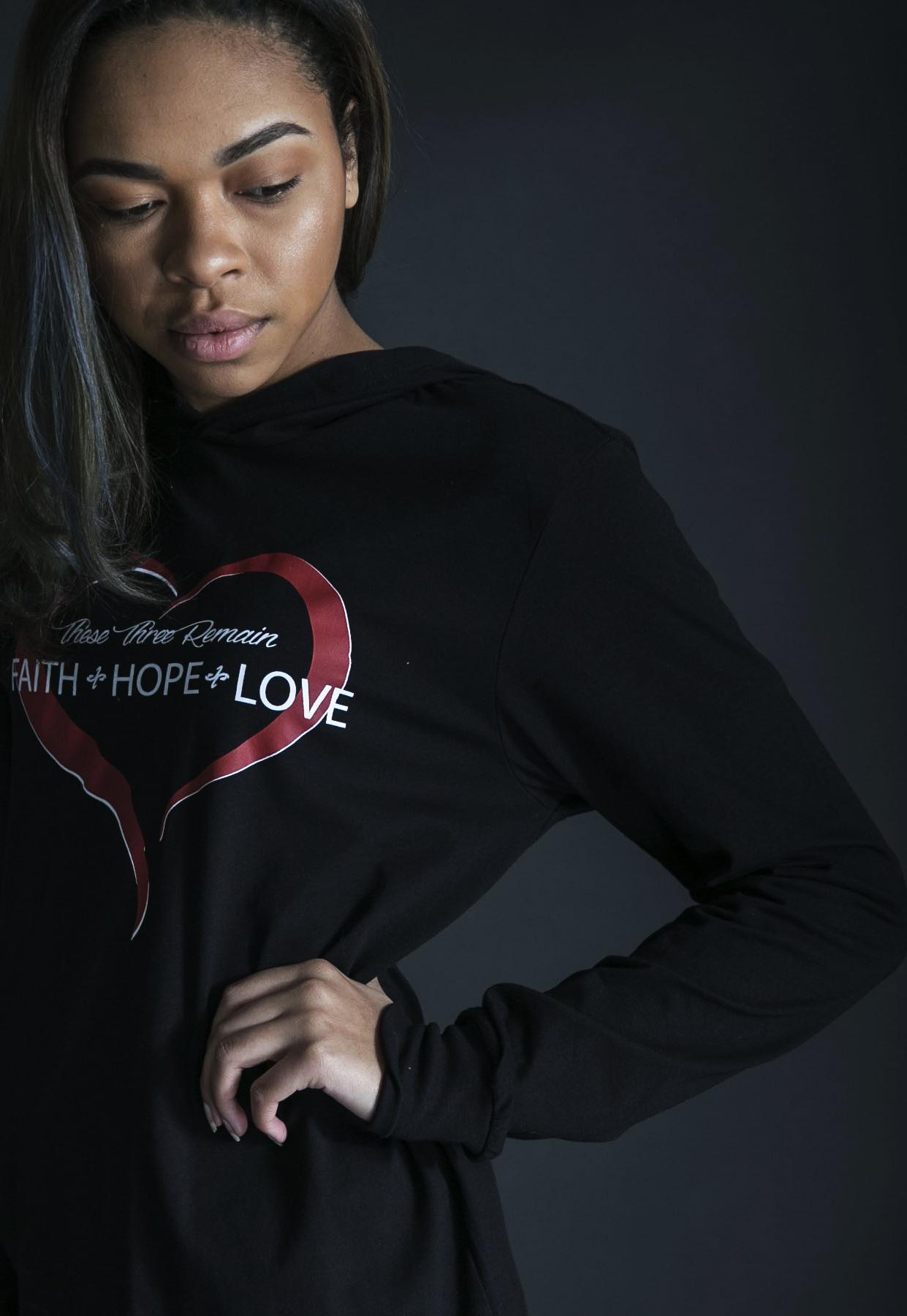 Faith Hope Love Hoodie - $42
