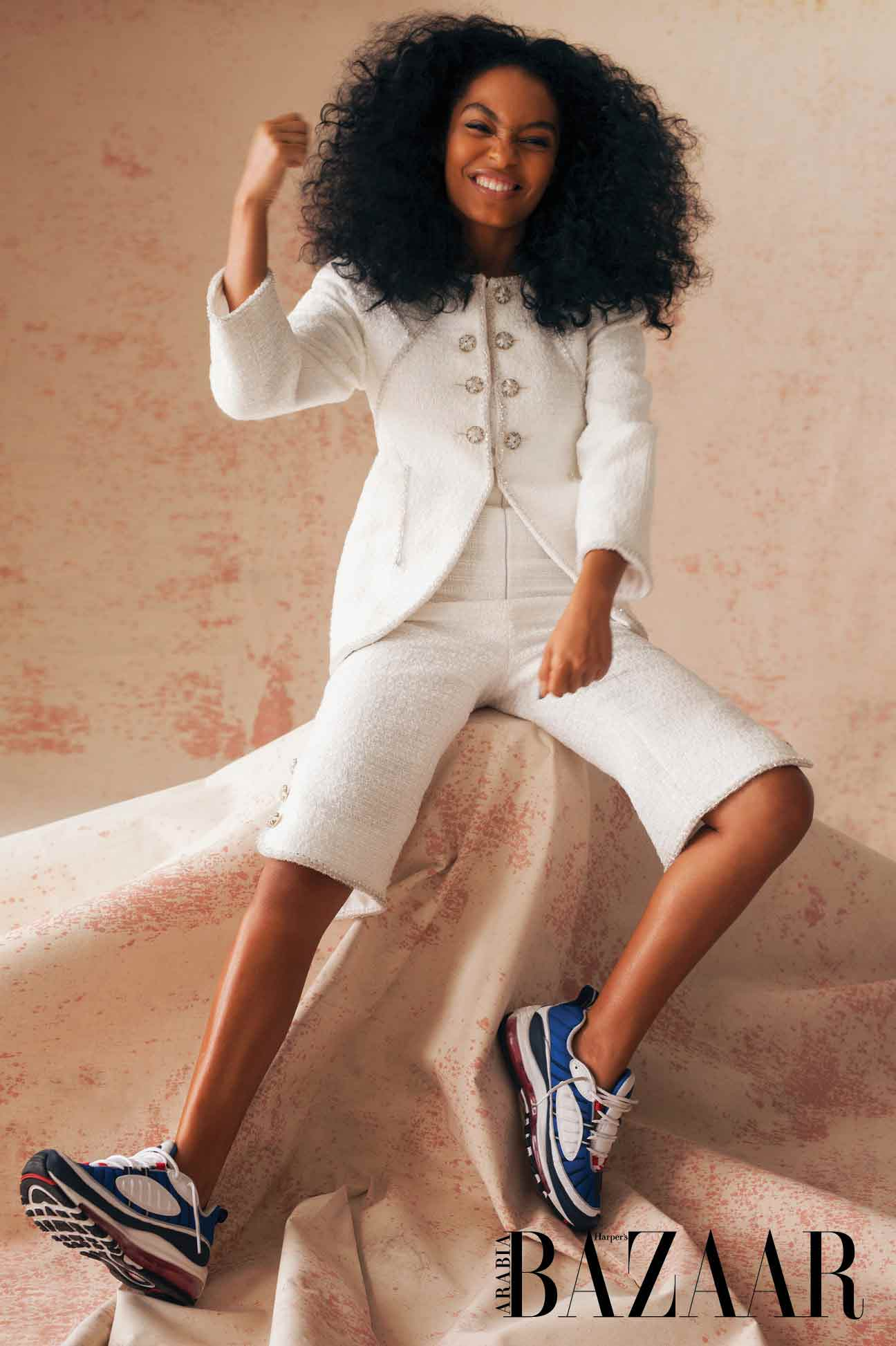 - Jacket, and French culotte suit in white tweed, Chanel Haute Couture S/S18