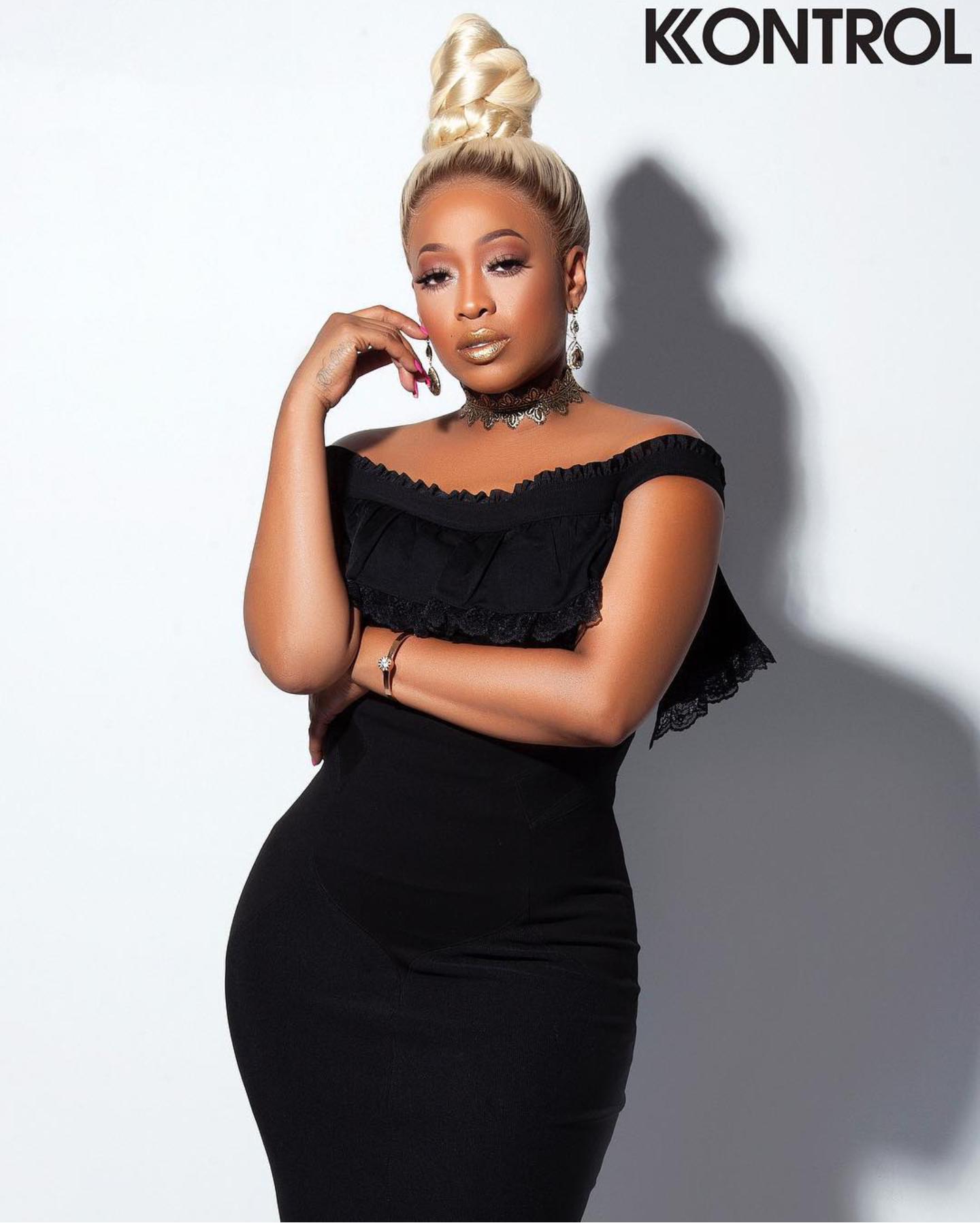 KONTROL MAGAZINE REBIRTH ISSUE 2018 TRINA BLACK DRESS.png