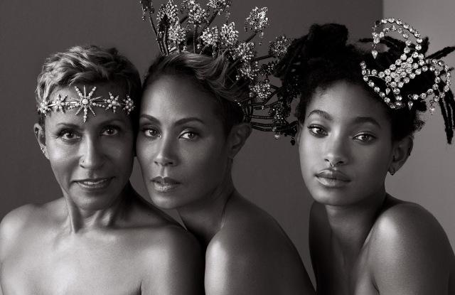Adrienne Banfield Norris, Jada Pinkett-Smith & Willow Smith:      Lelet      halo,      New York Vintage      tiaras