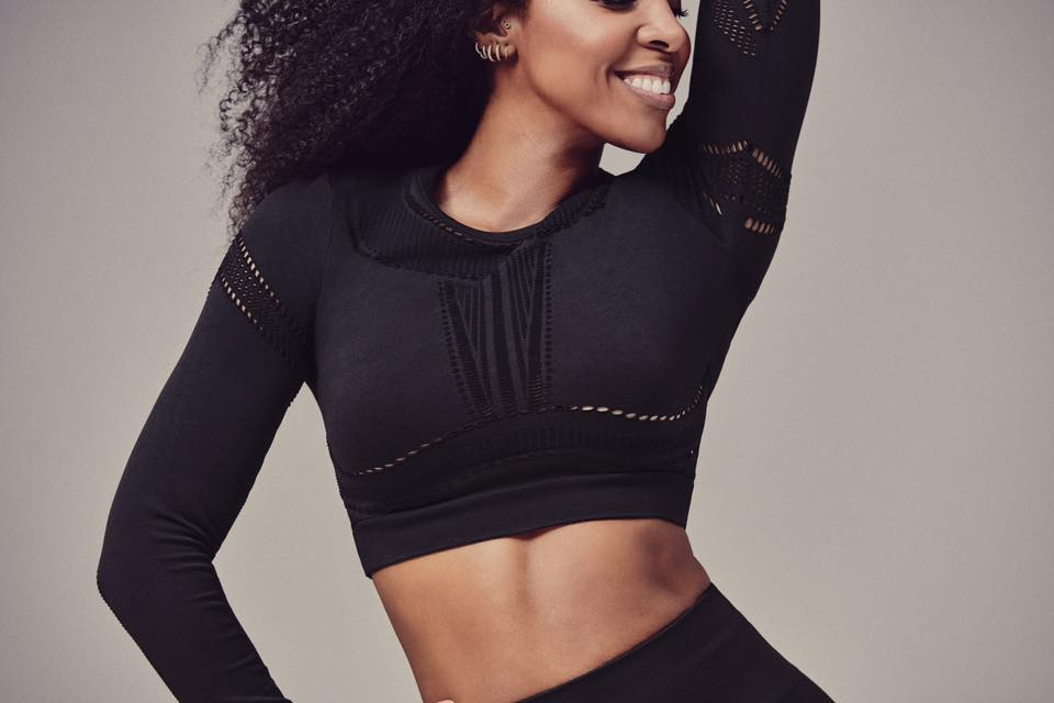 KELLY ROWLAND X FABLETICS - JAYMEE MESH L/S TOP L/S TOP $19.97