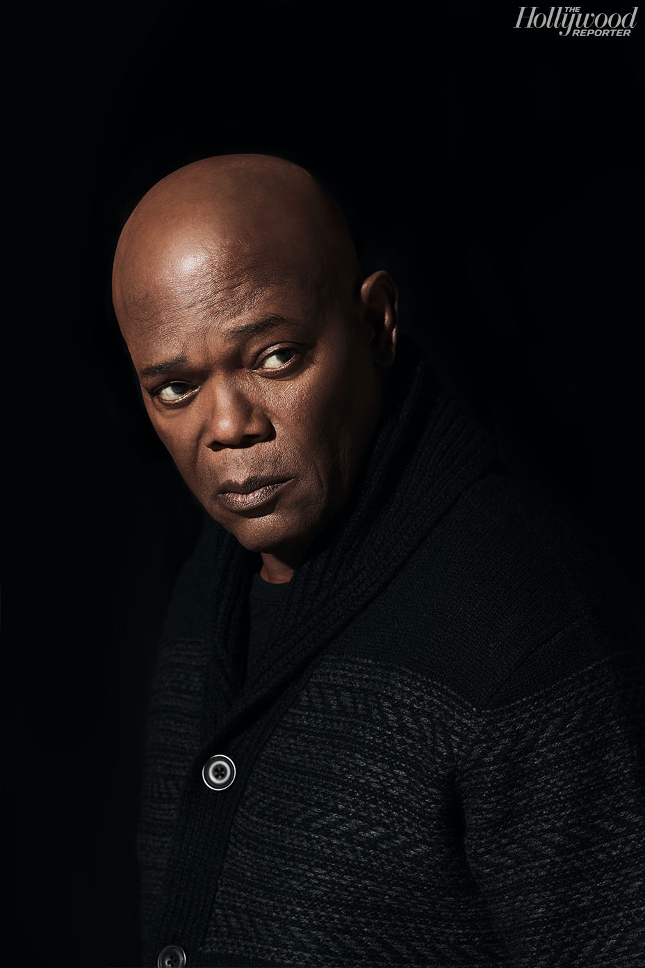 THE HOLLYWOOD REPORTER JANUARY 2019 SAMUEL L JACKSON BLACK SWEATER.jpg