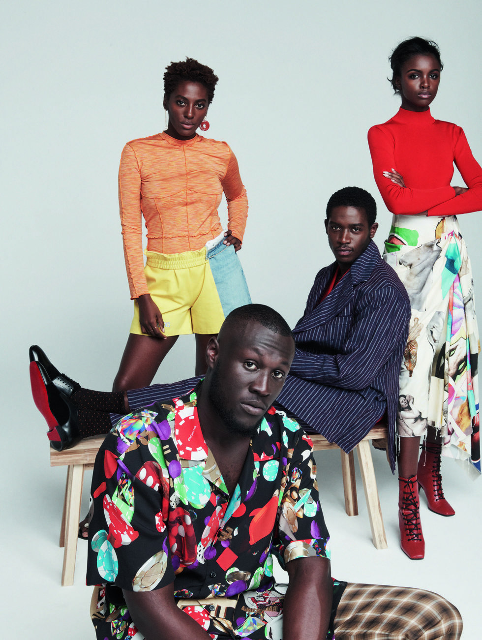 - Stormzy along with Damson Idris, poet Yrsa Daley-Ward and supermodel Leomie Anderson