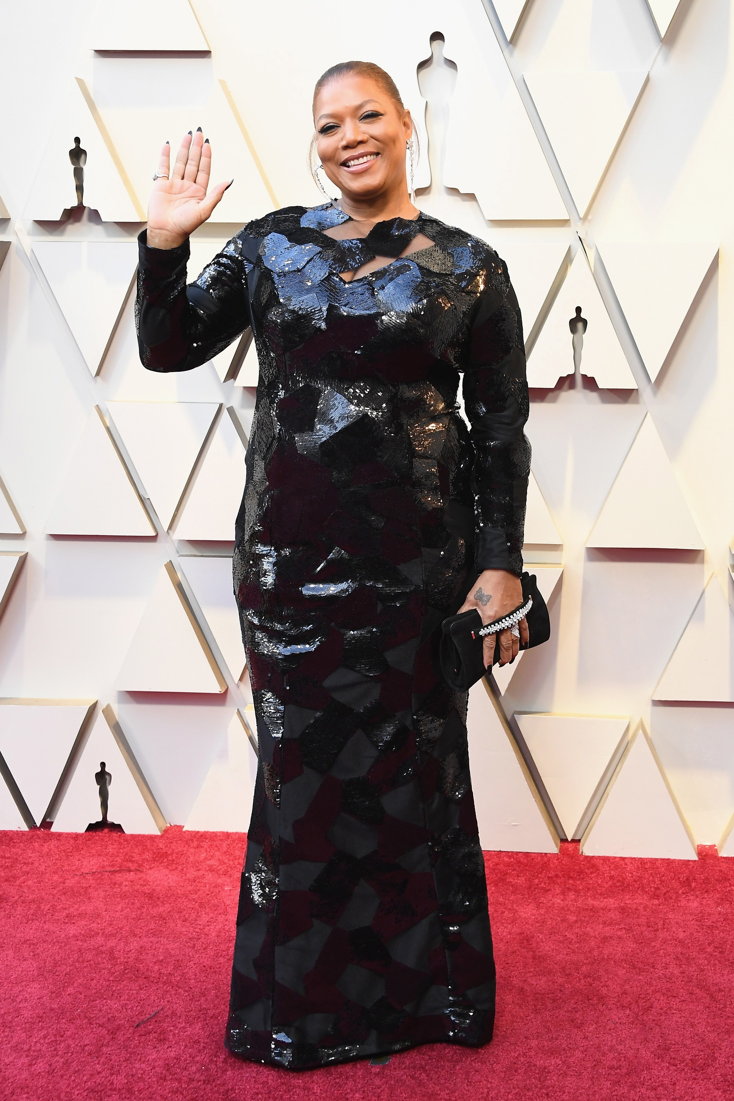 QUEEN LATIFAH - In Michael Costello Gown & Chopard jewelry