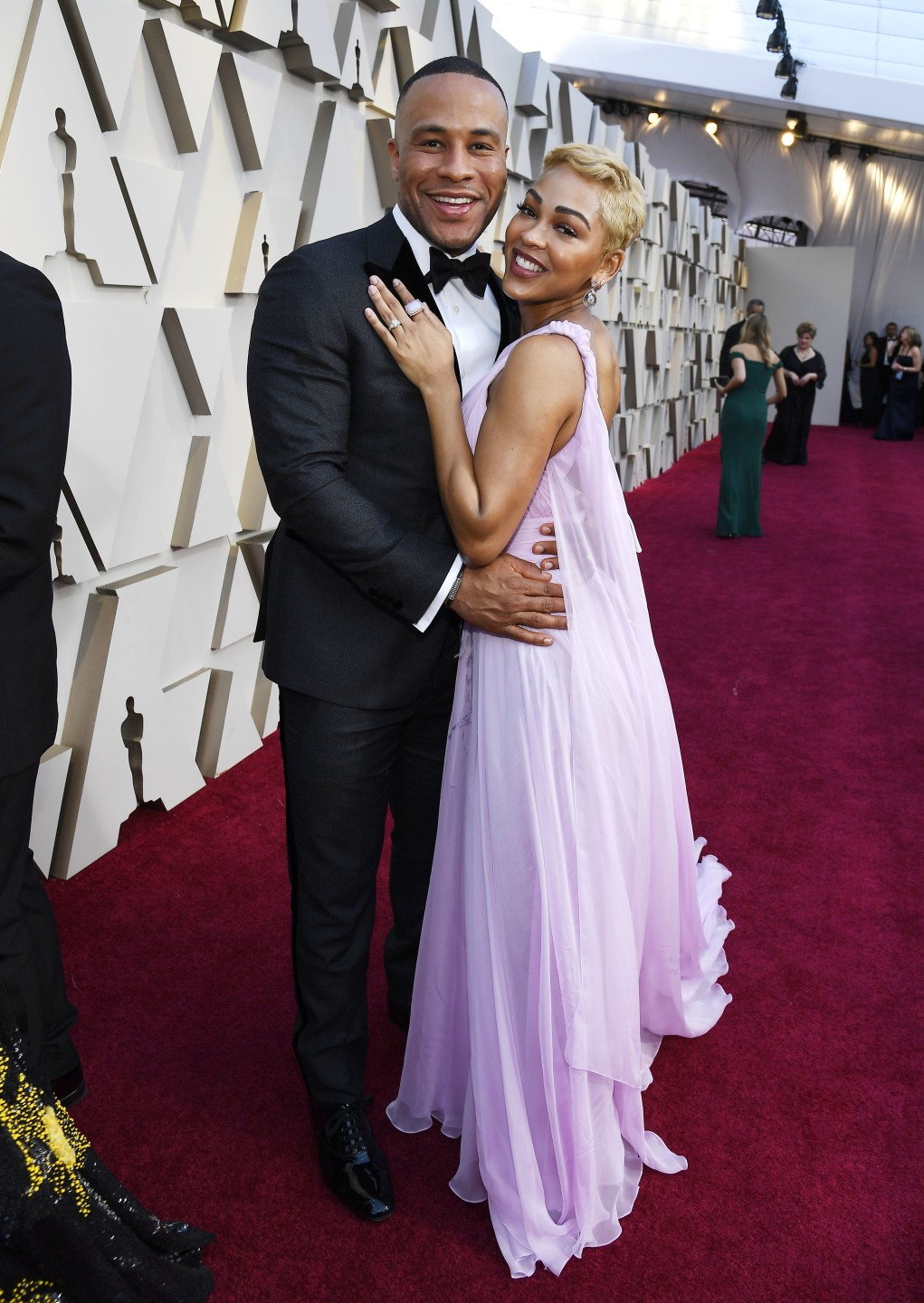 91st OSCARS RED CARPET 2019 MEAGAN GOOD AND DEVON FRANKLIN.jpg
