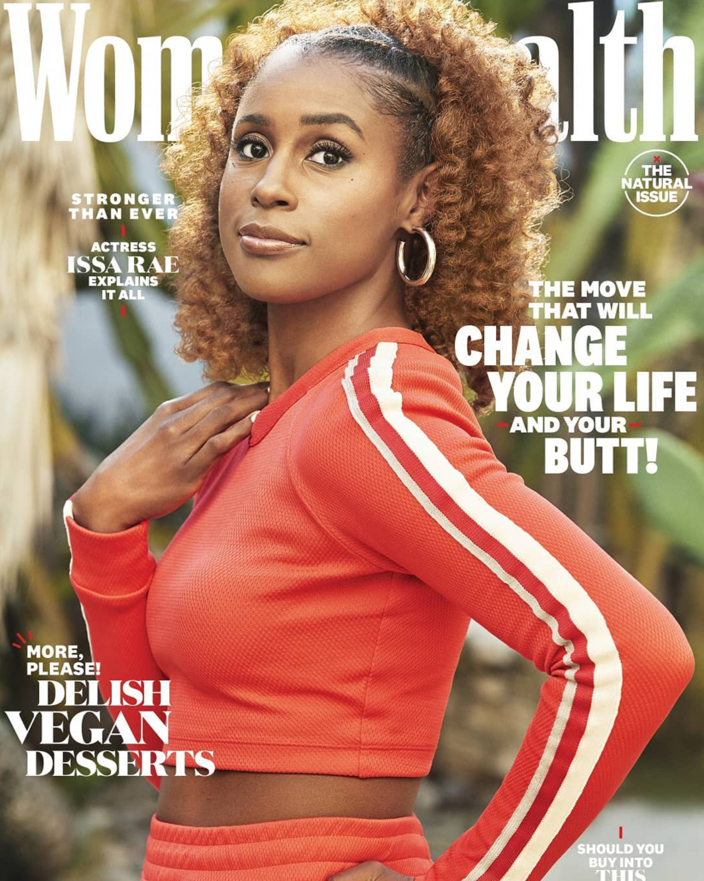 WOMEN'S HEALTH MAGAZINE THE NATURAL ISSUE 2019 ISSA RAE COVER 2.png