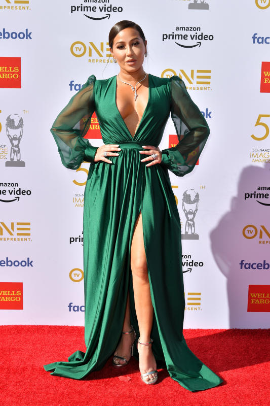 50TH NAACP IMAGE AWARDS RED CARPET 2019 ADRIENNE BAILON HOUHTON.png