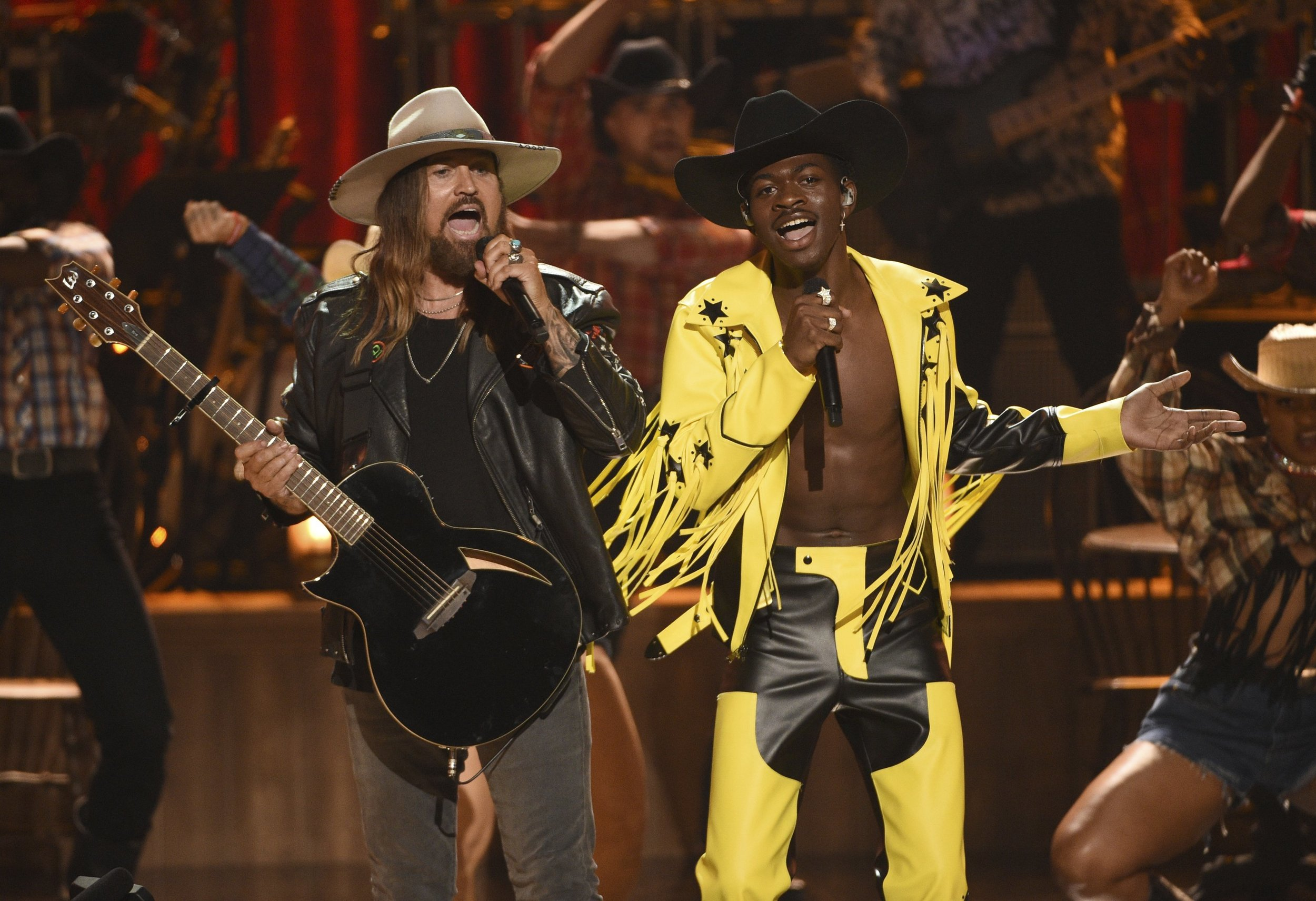 "- Lil Nas X alongside Billy Ray Cyrus performance took us on a Rodeo Ride. Lil Nas has stirred up the Country Music Industry with his latest song ""Old Town Road"". The song itself has a catchy beat to it, everyone can listen to it from young to old. There have been some unsavory comments made about his collaboration but at the end of the day, the song is sweeping the charts."