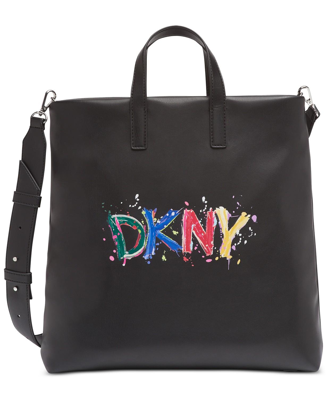 DKNY TILLY PAINT LOGO TOTE $168 - www.macys.com
