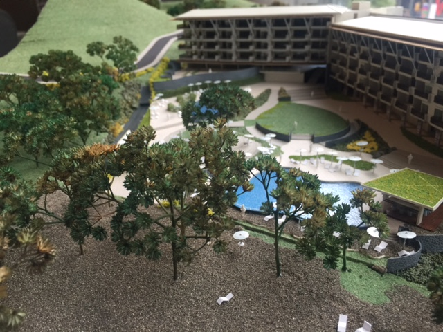 Model - Pool View from Beach