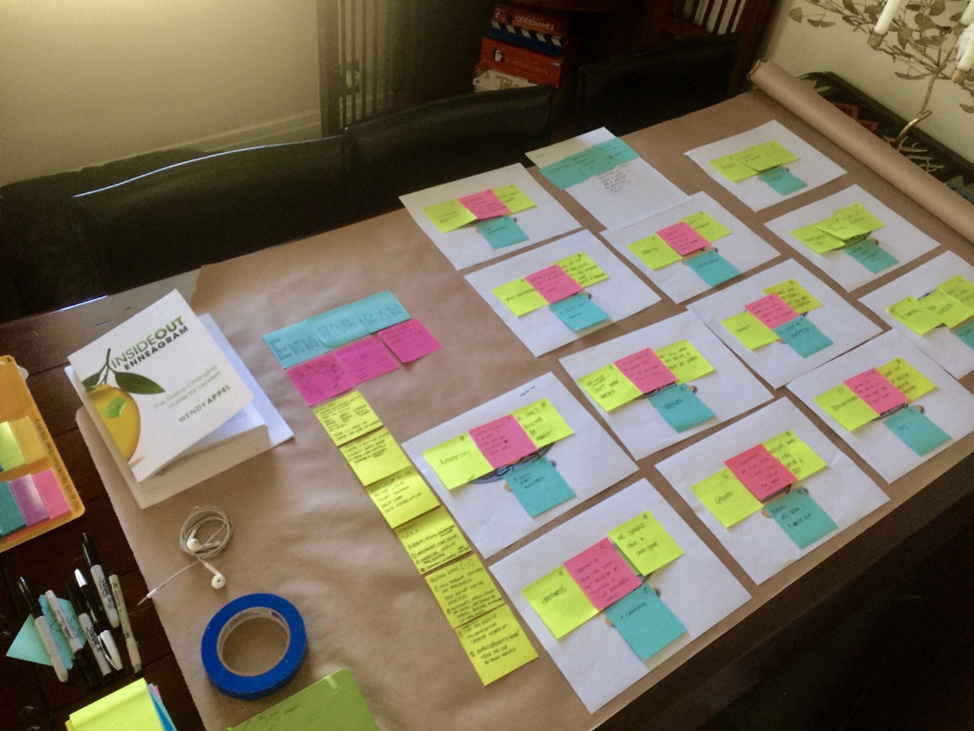 We did a session on career vision finding … many Post-It notes later, I was on track.