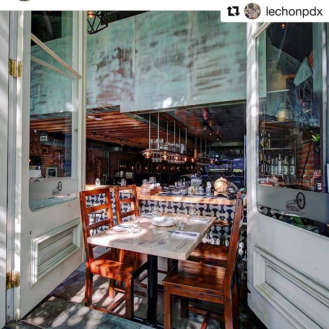 Patio season is here! ☀️ @lechonpdx ・・・ The windows are open! #patioseason #summertime