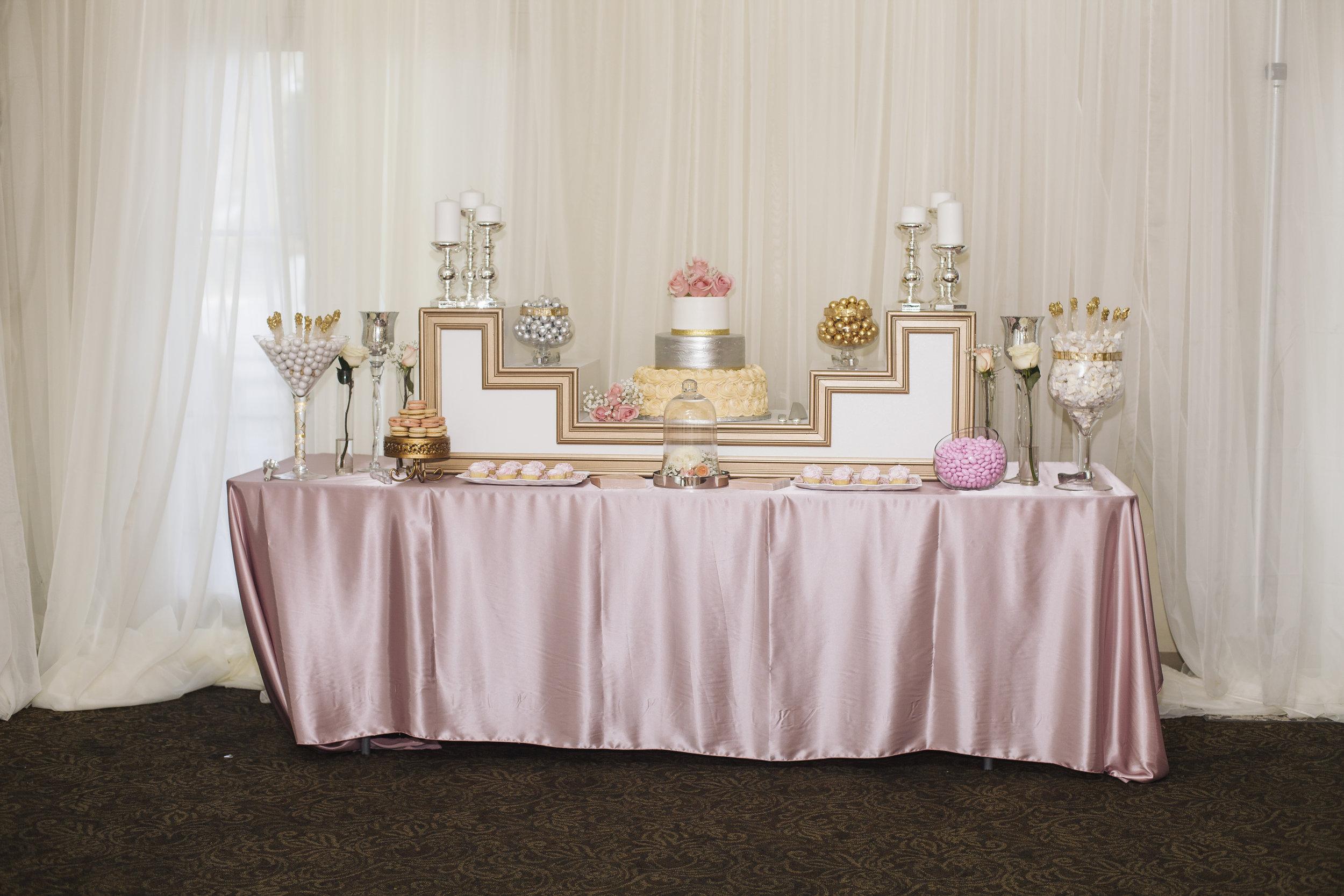 glamorous dessert table