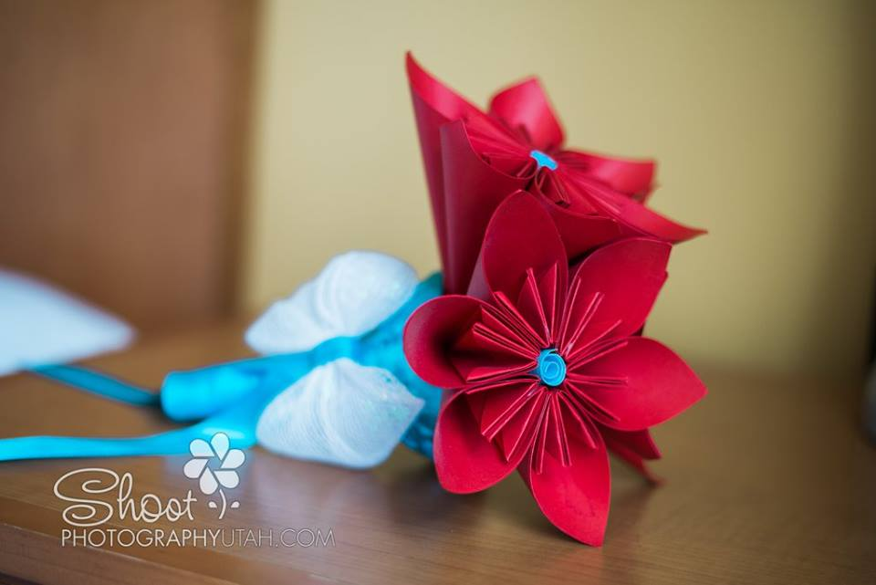 bridesmaids paper bouquet