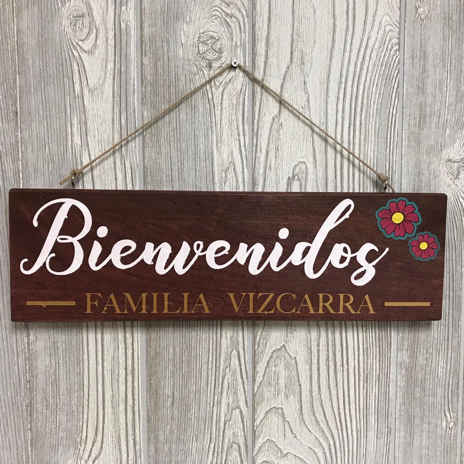 "🎨 $40 | Bienvenidos Familia | 5.5"" x 18"""