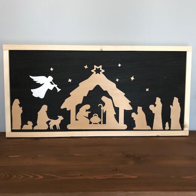 "$50 | Nativity | 27.5"" x 13.5"""