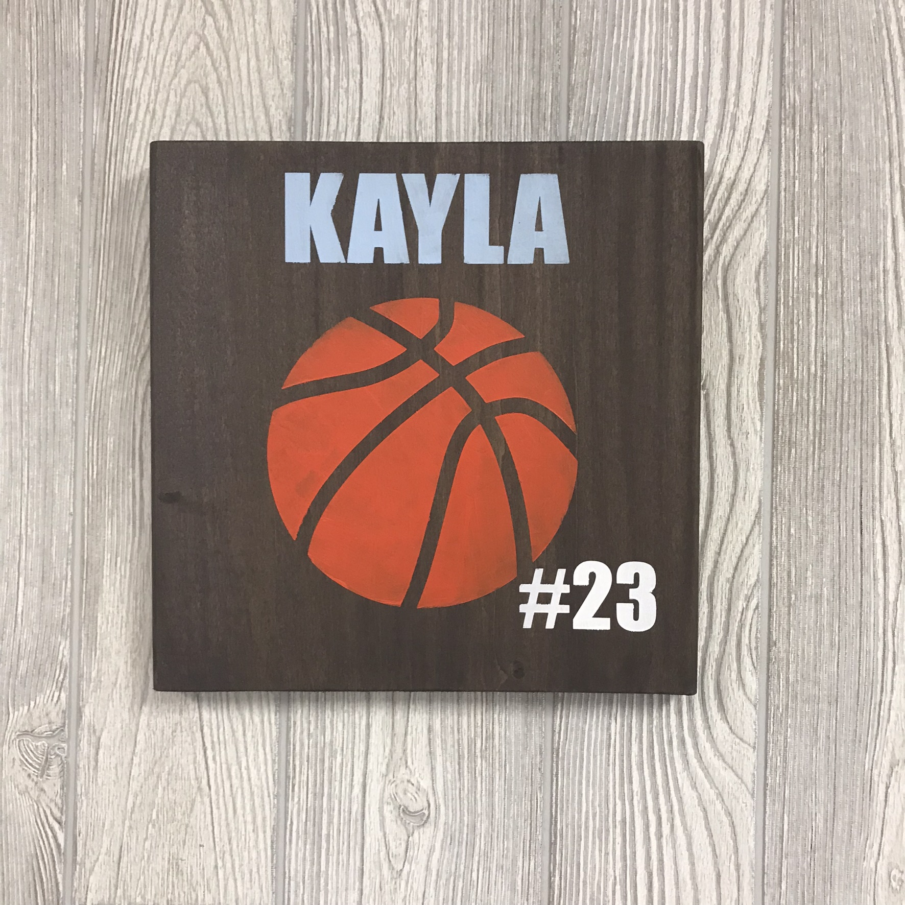 "Basketball Number | 10""x10"""