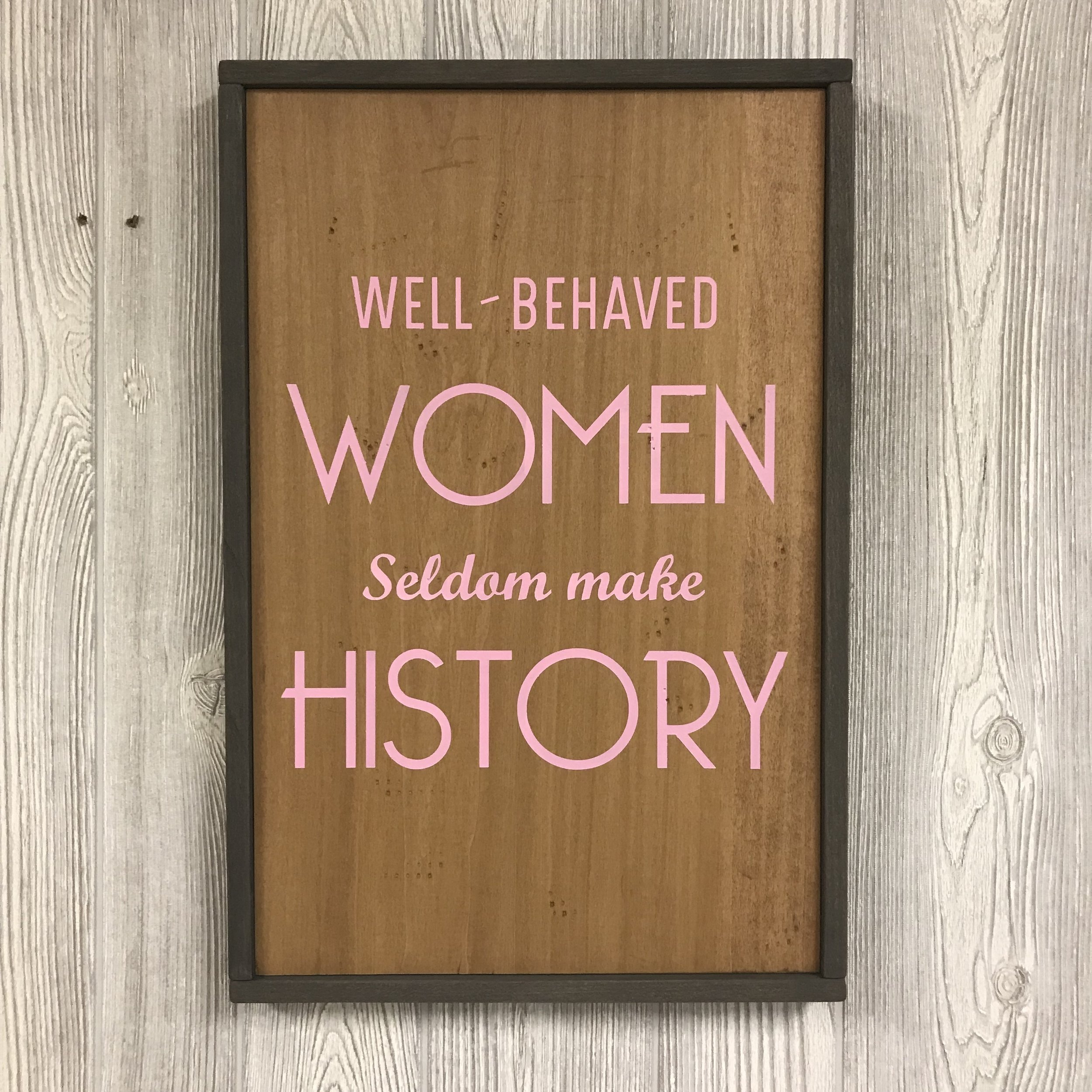 "$45 | Women History | 18.5""x12"""