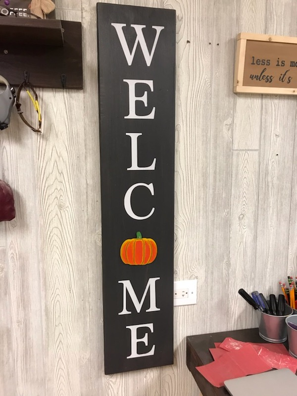 "$65 | Interchangeable porch sign |45""x9.25"""