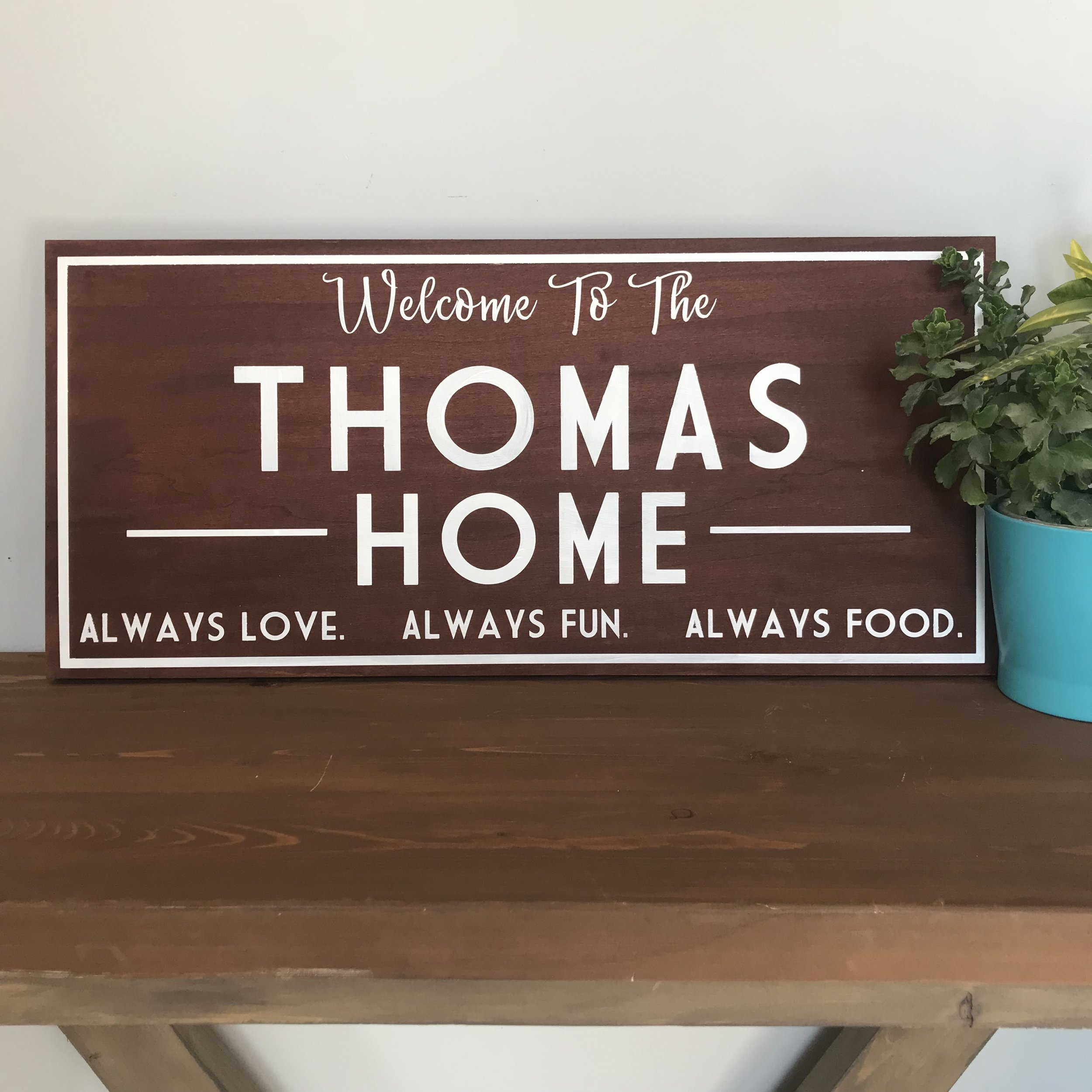 "🎨$65 | Welcome Home | 12""x26"""