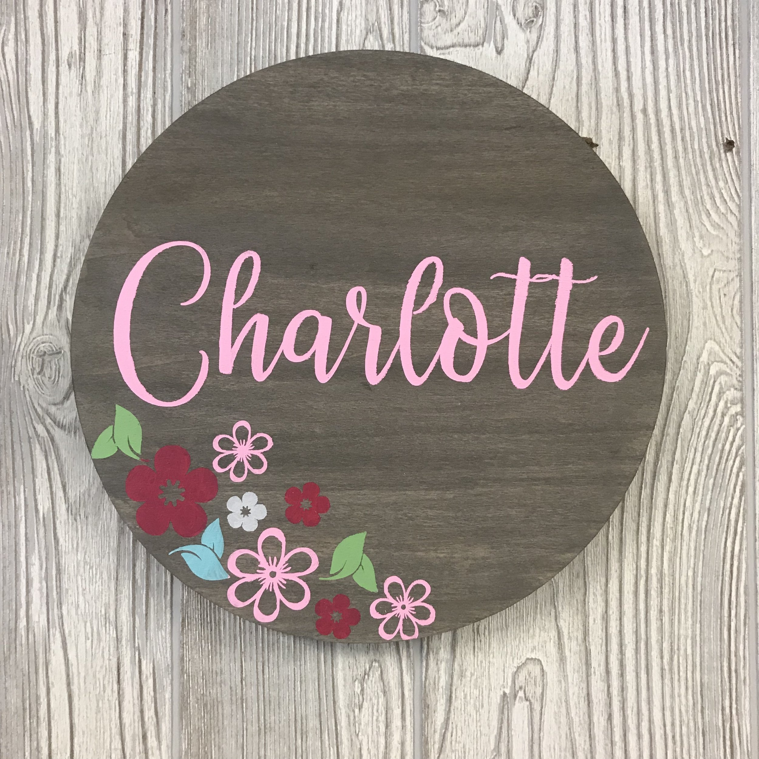 Round Name Board | 11""