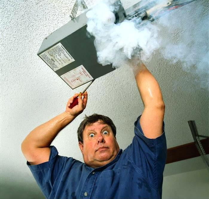 Garage door opener smoking? If you have ever ran into this problem, it is due to over working the unit, the capacitor will overheat and blow. Don't worry, we can fix that to.