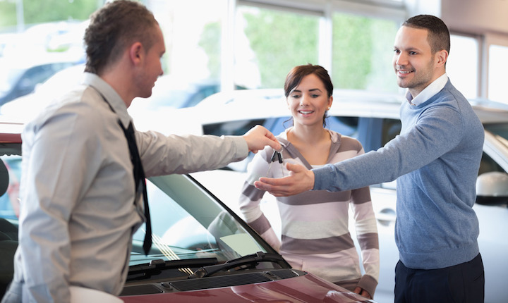 This couple is pumped to lose 10% of the value of their newly purchased car in a few minutes.