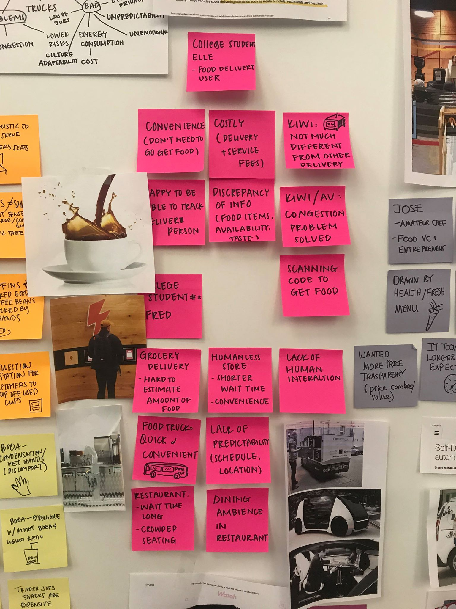 Stories and inspirations from interviews + secondary research