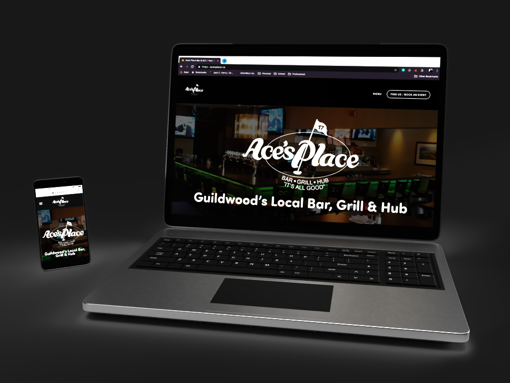 ACE's Place Website - ACE's Place Bar and GrillOmniWorx designed a new website for ACE's Place with the same spirit that ACE's was founded on, being a hub for its local community.