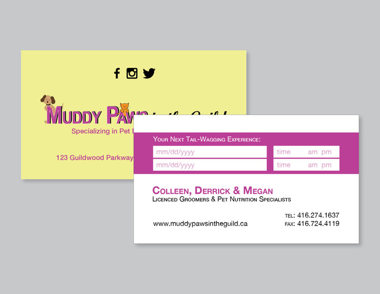 Muddy Paws Business Cards.JPG