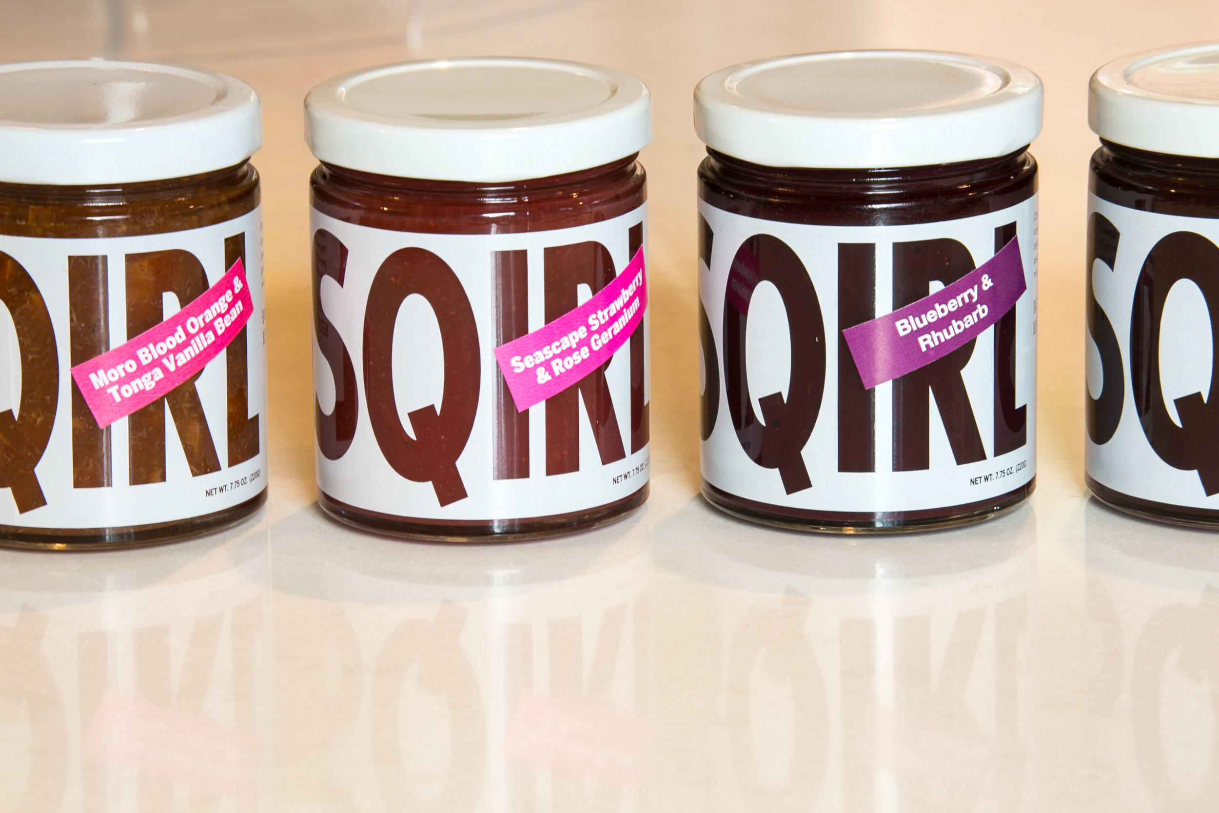 Our current selection of Sqirl preserves