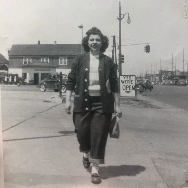 Yiayia in Detroit, late 50s. Happy Mother's Day!