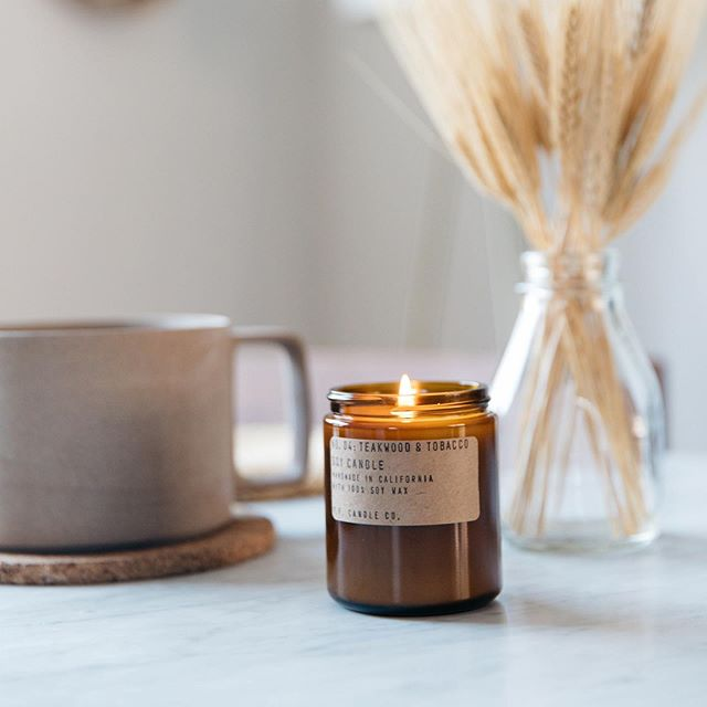 Our @pfcandleco candles are back in stock! All baskets including these candles are tagged above 🕯
