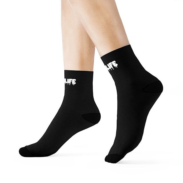 #NEW SCUMLIFE - BLACK SOCKS Available Now! | ScumlifeMerch.com  Regular price $15.00  Very elastic and comfortable socks. They are made from smooth and soft polyester material to keep your feet warm even in harsh weather conditions.