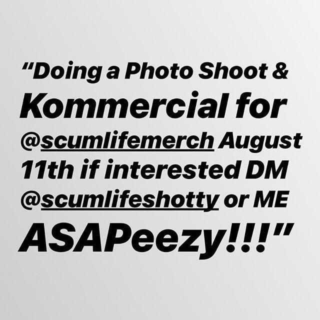 Plz serious inquiries only!!! @scumlifemerch