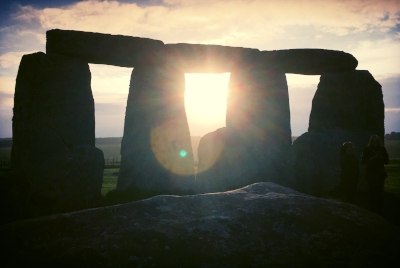 Image of Stonehenge at sunrise