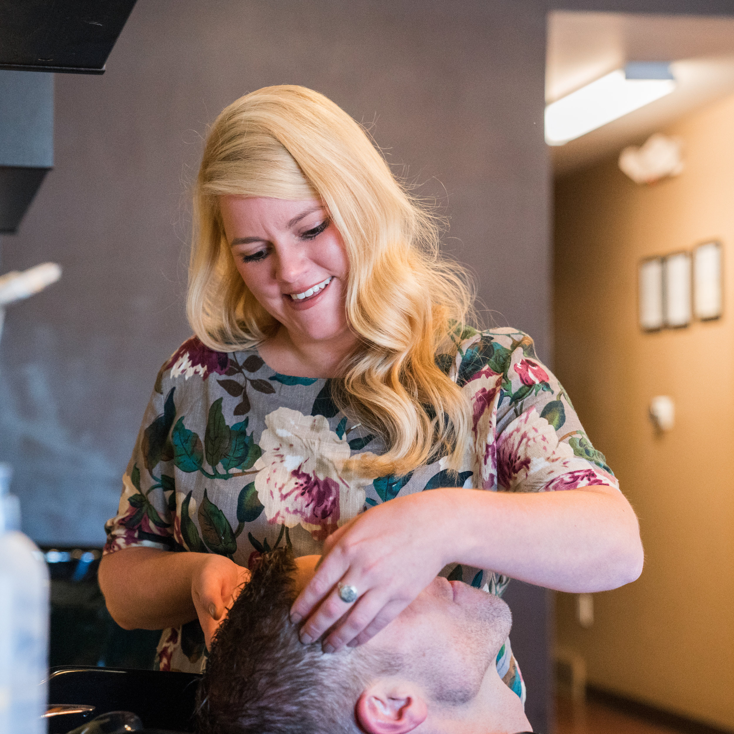 Natalie Frost  Stylist  The newest addition to The Laura Gregory Salon, Natalie is a graduate of The Aveda Institute of Columbus. After graduation, she was employed at a corporate salon for 2 years that specialized in men's and short haircuts. Being extremely talented in many other areas of hair design, particularly cutting and styling, Natalie searched for a salon where she could contribute those talents. Since joining The Laura Gregory Salon, Natalie has attended many classes, becoming certified with L'Oreal Professionnel color systems and Simply Smooth Keratin Treatment Systems. She excels in formal and special occasion styles.