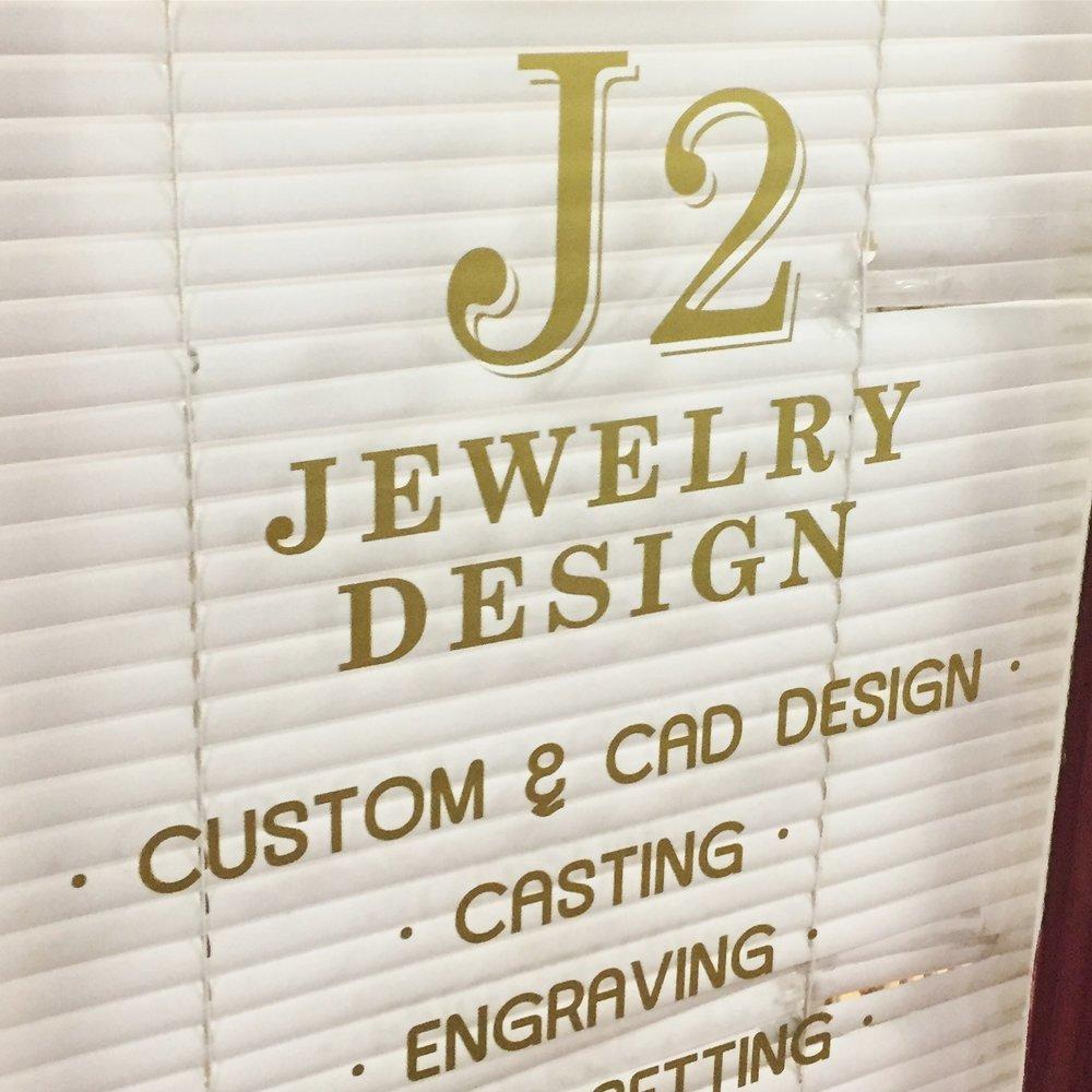 J2 Jewelry Design-Gold door decal